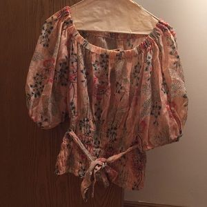 Vintage Floral Circle Skirt and Matching Top